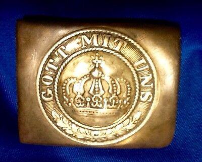 Franco-Prussian War-WW1, Enlisted Man's Brass Belt Buckle, Minty 140+ Years Old