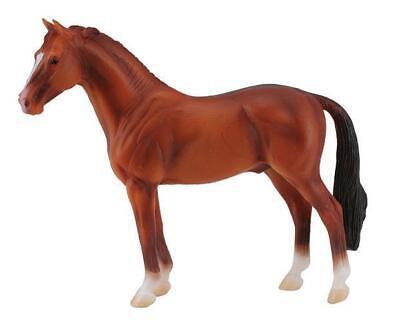 CollectA NEW * Hanoverian Stallion - Chestnut * 88432 Breyer Corral Model -