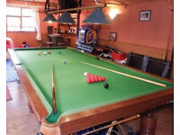 3/4 Size (10 ft x 5 ft) Genuine Slate Bed Mahogany Style Snooker Table
