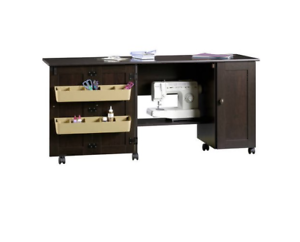 Stock photo  sc 1 st  eBay & Sewing Craft Cart Table Storage Cabinet Cherry Furniture Drop Desk ...