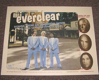 Everclear AMERICAN MOVIE Rare Promotional Only Lobby Display Card 11 x 14 MINT