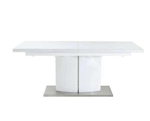 Furniture Village Grande extendable dining table. White high gloss. BRAND NEW IN BOX