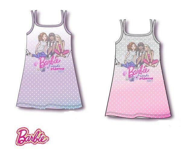 Einteiler Pyjama Schlafanzug Nachthemd Mädchen Barbie Nachtwäsche 116-152 #43