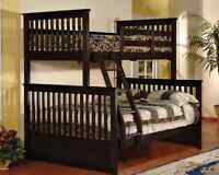 Twin over full bunk bed, Brand new in boxes,Splits into 2 beds