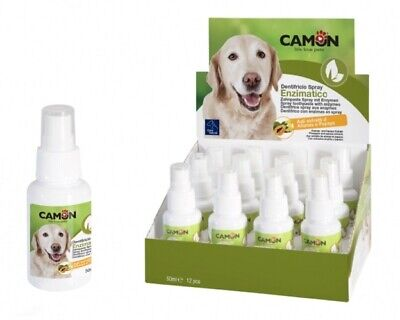 CAMON DENTIFRICIO SPRAY ENZIMATICO PER CANI GATTI ALITO FRESCO DENTI SANI 50 ML