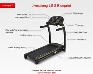 Livestrong LS8.0T treadmill (almost brand=new)