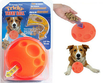 Omega Paw Tricky Treat Ball Dog Toy (Free Shipping in USA) Size Options ()
