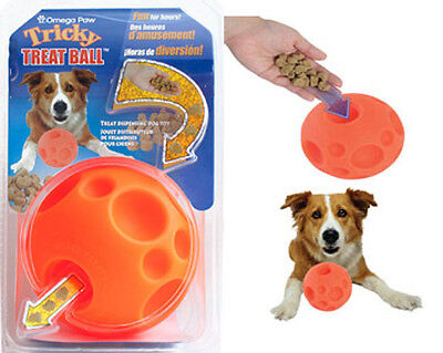 """Omega Paws Tricky Treat Ball Dog Toy LARGE - 5"""" Diameter"""