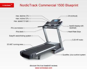 NordicTrack 1500 commercial treadmill