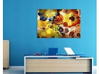 Stunning abstract high quality canvas - glows in the dark