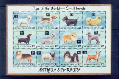 antigua /1994 dogs of the world-small breeds 2s/s /MNH.good condition