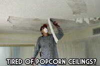 Ceiling repair , popcorn removal texture , knockdown