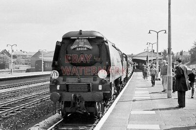 PHOTO  SR WEST COUNTRY LOCO 34038 AT BASINGSTOKE