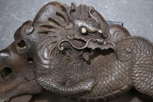 A Dragon-decorating Chinese Estate Inkstone Display Lot 237