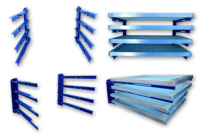 Silk Screen Printing Storage Rack Wall Mounted Frame Holder Adjustable Width