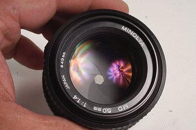 Minolta F/1.4 1:1.4 50mm MD Lens X700 X570 X370 XD XGM XG9 XG7 XG1 SRT XE Nice!