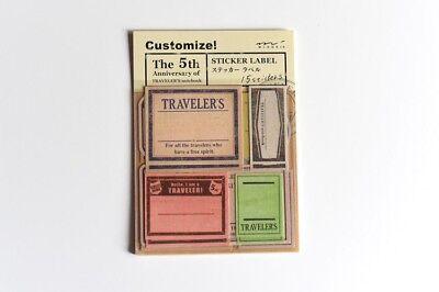 Aufkleber | Stickers, für Traveler's Notebook, «LABEL» von Midori, 15 Stickers