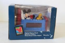 Wake Up with Mickey and Pluto Digital Alarm Clock Lot 127