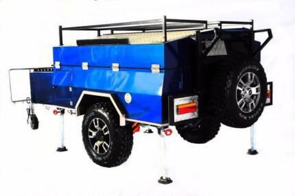 Sides Folded Off Road Specialist Cobra Camper Trailer Perth Region Preview
