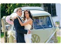 vw splitscreen campervan for weddings, special occasions, proms