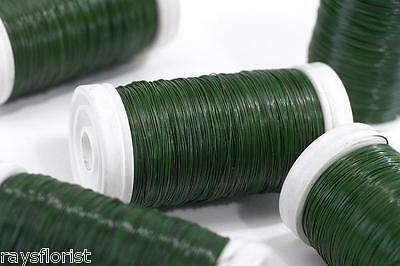 Green Reel Wire Lacquered Florist Rose Wire Roll Smithers Oasis Floristry Crafts
