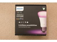 Philips Hue White and Colour Ambiance Wireless Lighting E27 Starter Kit [Richer Colour Bulbs]
