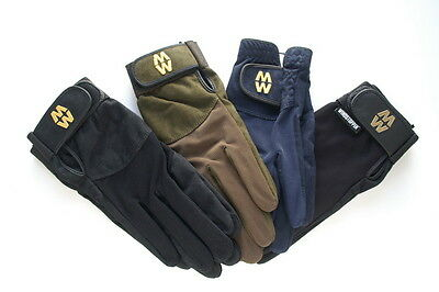 MACWET Shooting Gloves - Touch Screen Friendly Long Cuff Green or Black Green Touch Screen