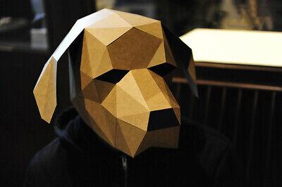 Animal Labrador Dog Pet 3D Geometric DIY Paper Card Craft Head Mask Costume Prop](Labrador Dog Halloween Costumes)