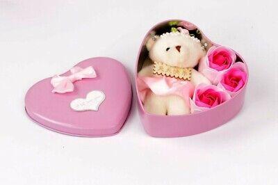 Duftende Rosenduftseife Set mit Spielzeug Bären Seife Rose Dufte Geschenk Party