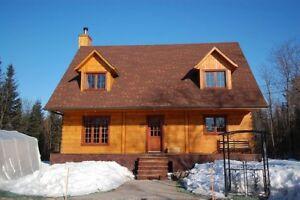 Plan de construction pour maison traditionnelle en bois