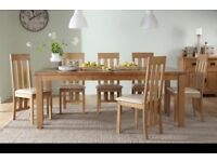Extending Oak Dining Table - with 8 Chairs
