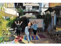 Yoga in the mornings in the heart of London. Cozy courtyard (or indoors if weather demands)