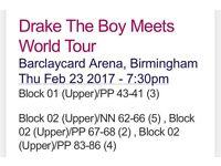 Drake - The Boy Meets World Tour - 23rd Feb - Birmingham Seated!