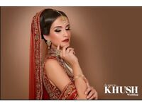 Asian bridal makeup and hair styling as seen in Khush magazine
