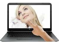 HP 17.3 TouchScreen LED QuadCore 6GB 1TB DVD+RW WebCam WiFI HDMI White Laptop