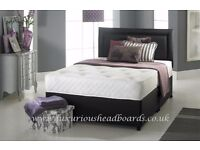 "Brand New Double Divan Bed With 9"" Semi Orthopaedic Mattress Call Now For Same Day"