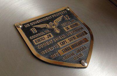 CUSTOM CAPTAIN AMERICA TFA SHIELD SERIAL DATA PLATE PROPERTY TAG PROP - Captain America Shields