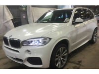 White BMW X5 3.0TD Steptronic 2015 xDrive30d M Sport FROM £150 PER WEEK!