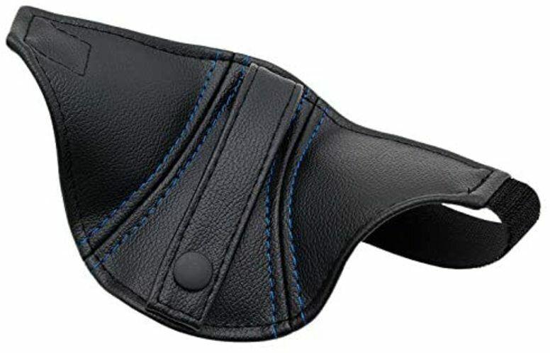 Jade Recaro Seat Belt Guide Black/Blue Stitch JSG-004