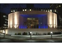 A modern, landmark building, with on-site car parking and 2000 sq ft rotunda as a reception area