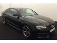 Black AUDI A5 COUPE 1.8 2.0 TDI Diesel BLACK EDITION FROM £83 PER WEEK!