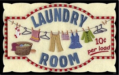 (Laundry 10 cents) Sign, clothes, ironing, rustic, wall decor, plaque, wooden ()