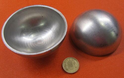 "Aluminum Half Sphere / Balls 3.50"" (3 1/2"") Diameter x 1.75"" Height, 5 pieces"