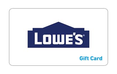 Lowe s Gift Card 25.00 Verified - $23.50