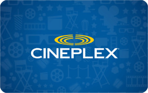 Cineplex Gift card of 50.00$
