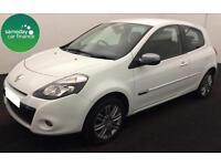 £108.35 PER MONTH WHITE 2012 RENAULT CLIO 1.2 DYNAMIQUE TOMTOM 3 DOOR PETROL