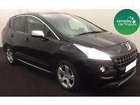 £127.47 PER MONTH BLACK 2011 PEUGEOT 3008 1.6 VTi EXCLUSIVE 5 DOOR PETROL MANUAL