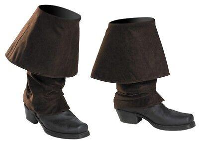 Jack Sparrow Pirates of the Caribbean Men Costume Boot Covers Jack Sparrow Pirate Boot Covers