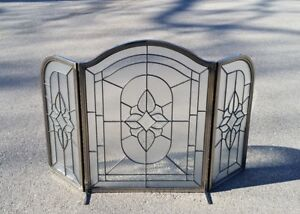 Glass Fireplace Screen $350 obo