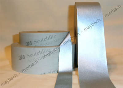 50 Yards 3m Reflective Tape Silver Fabric Sew-on 1